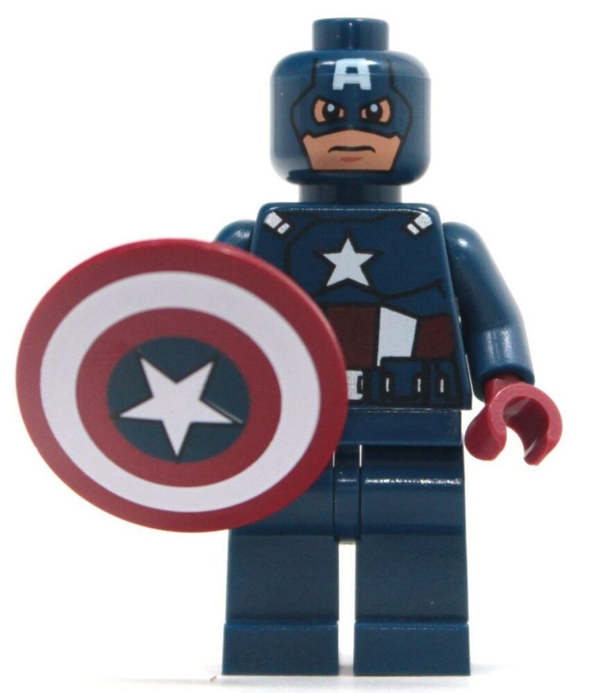 Lego captain america minifigure from set 6865 captain america 39 s avenging cylce ebay - Lego capitaine america ...