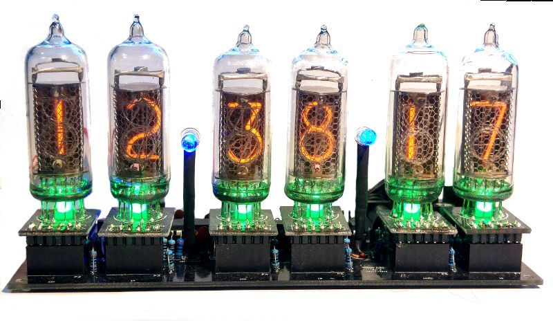 Nixie clock in kit no tubes arduino open source with