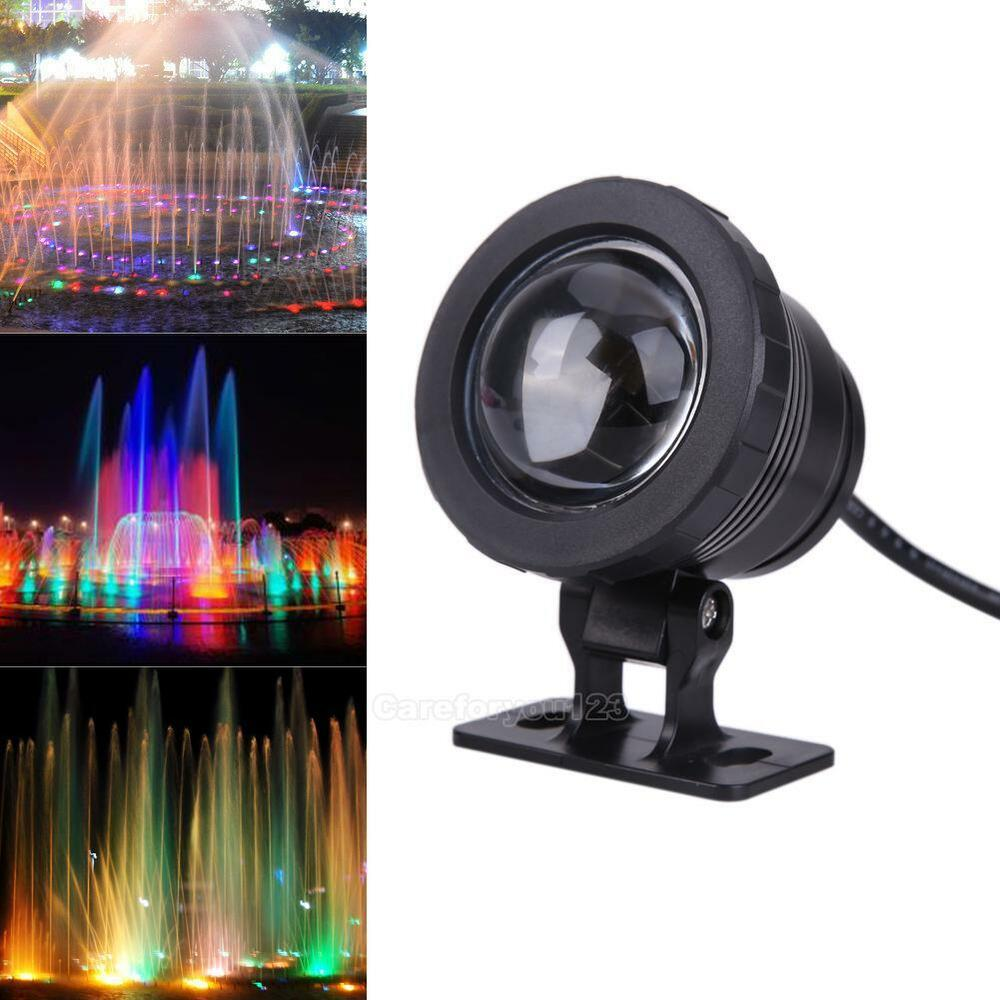 waterproof 10w 12v rgb led flood underwater light spotlight lamp remote control ebay. Black Bedroom Furniture Sets. Home Design Ideas