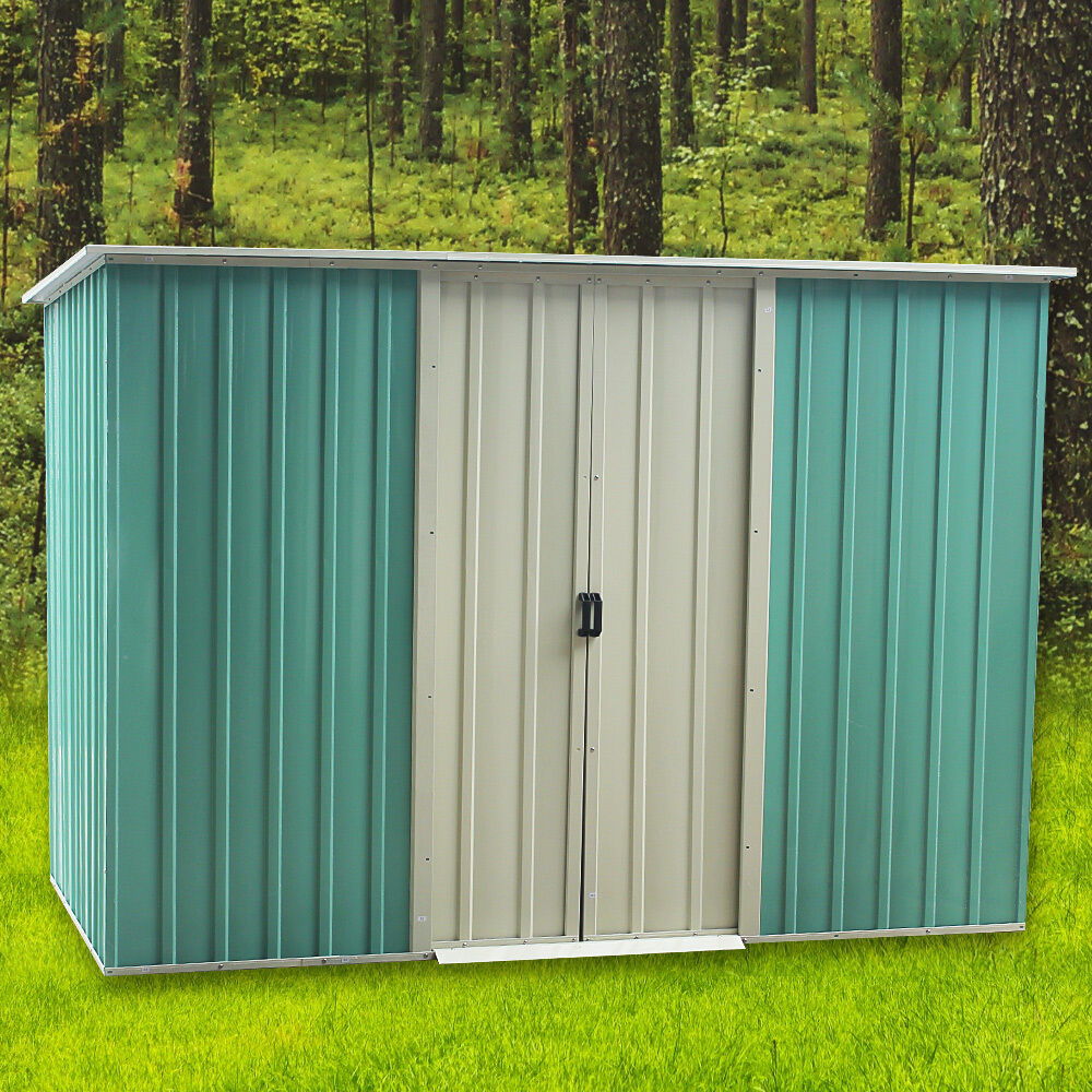 Panana garden shed tool apex roof outdoor 4 x 8ft storage for Garden shed 4 x 8