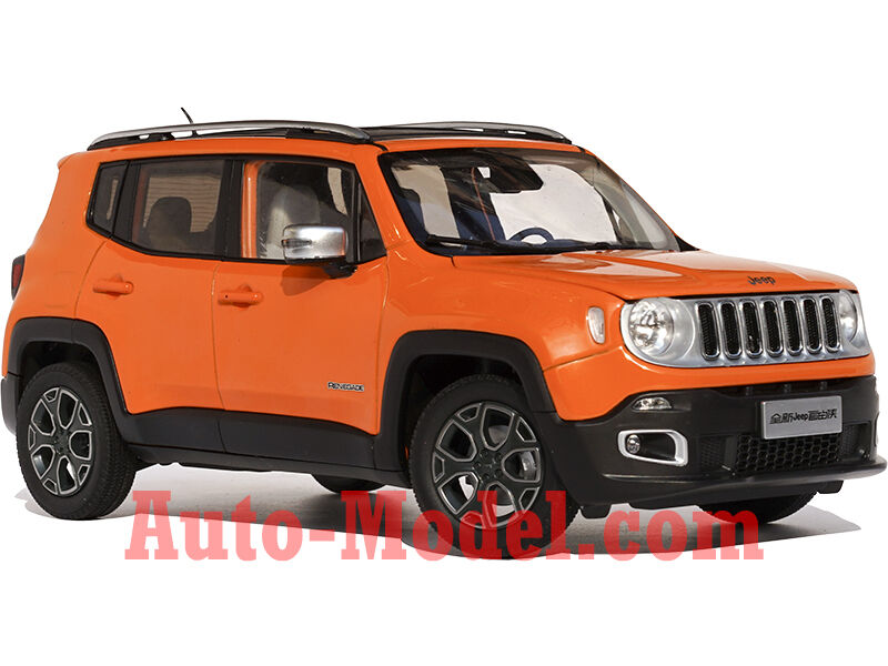 1 18 gac fca 2016 jeep renegade omaha orange dealer edition ebay. Black Bedroom Furniture Sets. Home Design Ideas