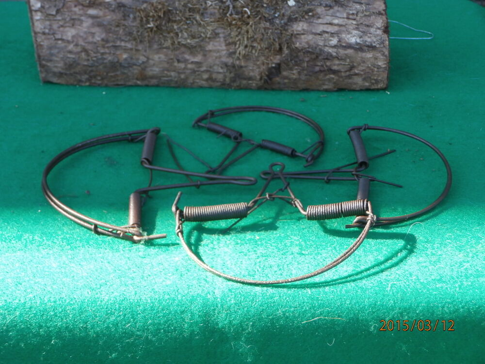 4 antique round spring and wire mouse traps rat trap buy now get one free ebay. Black Bedroom Furniture Sets. Home Design Ideas