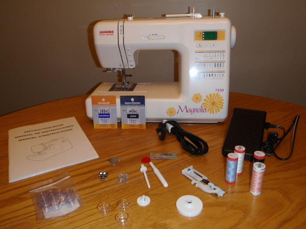 Magnolia 7330 JANOME Sewing Machine -NEW IN BOX-AUTHORIZED ...