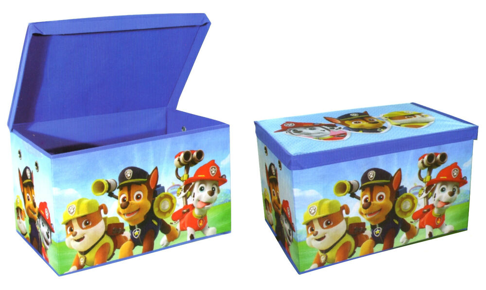 Paw Patrol Kids Toy Organizer Bin Children S Storage Box: Paw Patrol Childrens Foldable Kids Toy Storage Box Chest