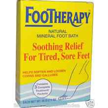 NEW QUEEN HELENE FOOTHERAPY NATURAL MINERAL FOOT BATH SOOTHING RELIEF SKIN CARE