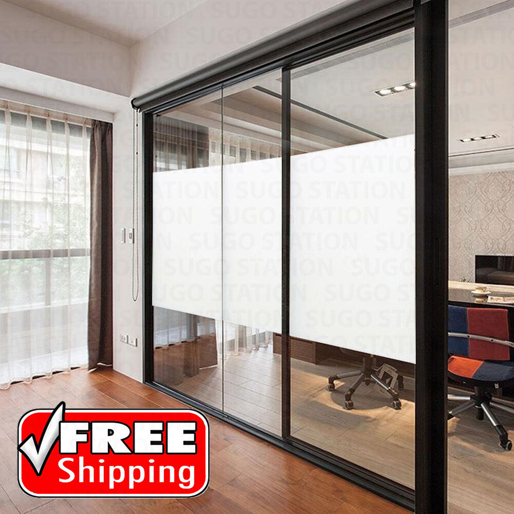 White Frosted Window Tint Glass Privacy Film EASY DIY Home ...