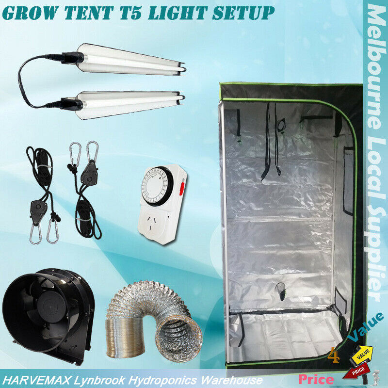 Hydroponic indoor grow tent 2x led grow lights kit for Indoor gardening ventilation system