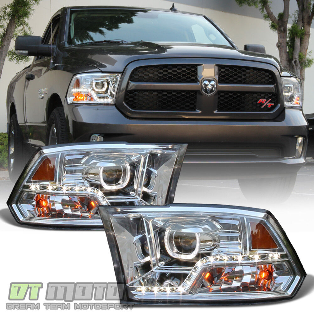 Mono Eye 2009 2017 Dodge Ram 1500 2500 3500 Led Drl Halo