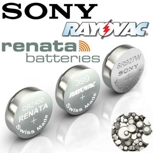 Rayovac/Sony/Renata Cell Batteries Button Silver Oxide All Sizes Watch Battery