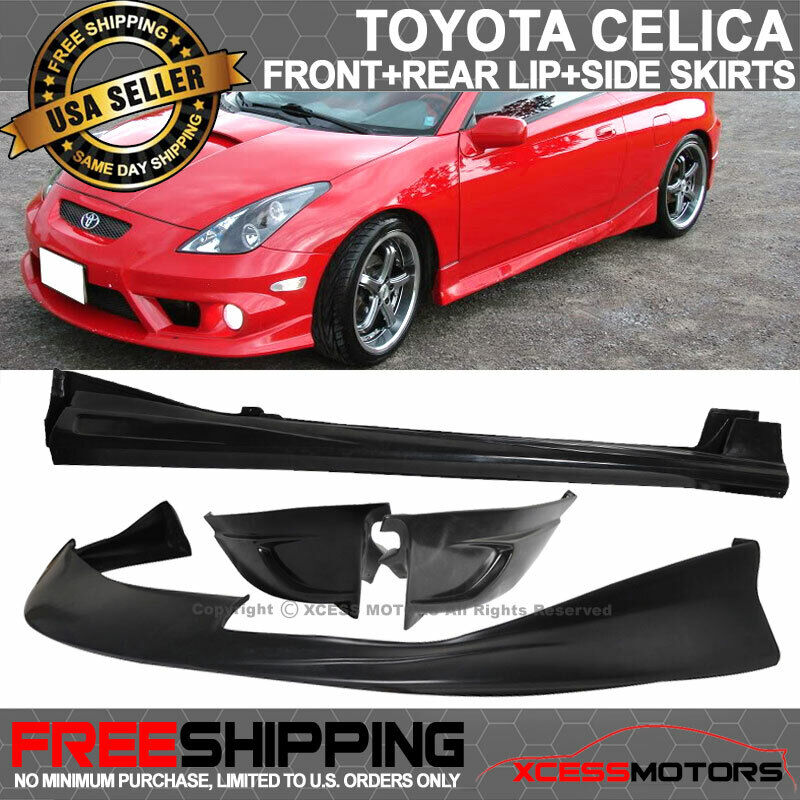 Fits 00-02 Toyota Celica JDM Front + Rear Lip + Side Skirt