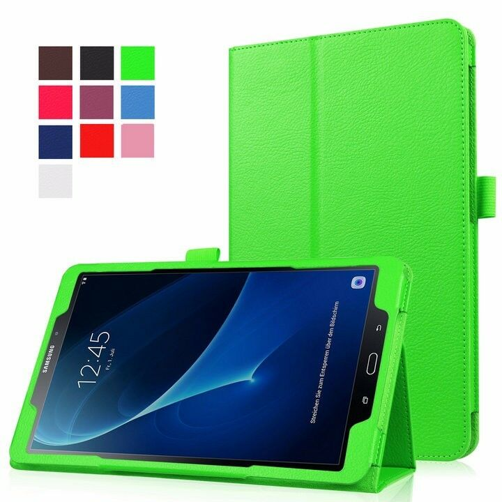 Leather folio case stand cover for samsung galaxy tab a6 for Housse tablette samsung