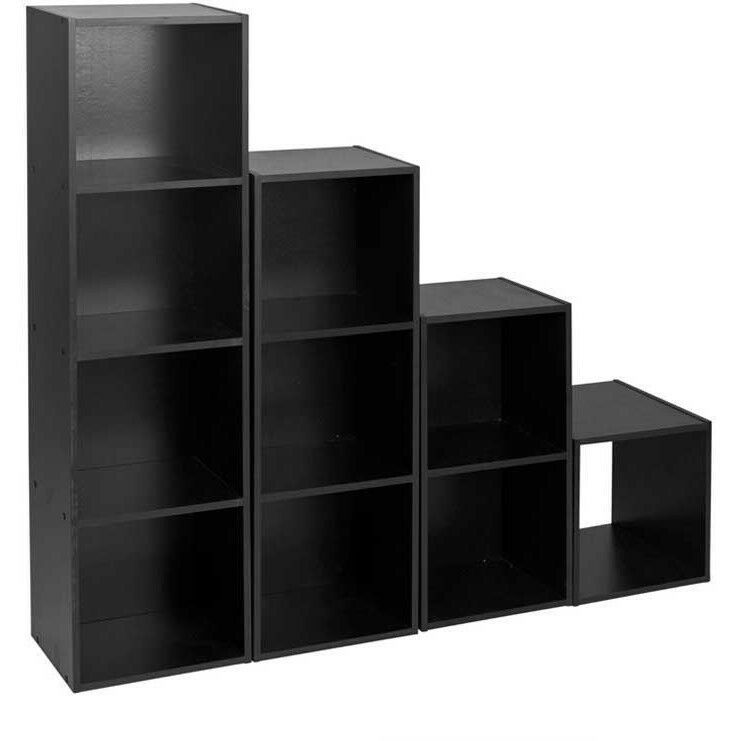 Cube 2 3 4 Tier Wooden Book Case Display Storage