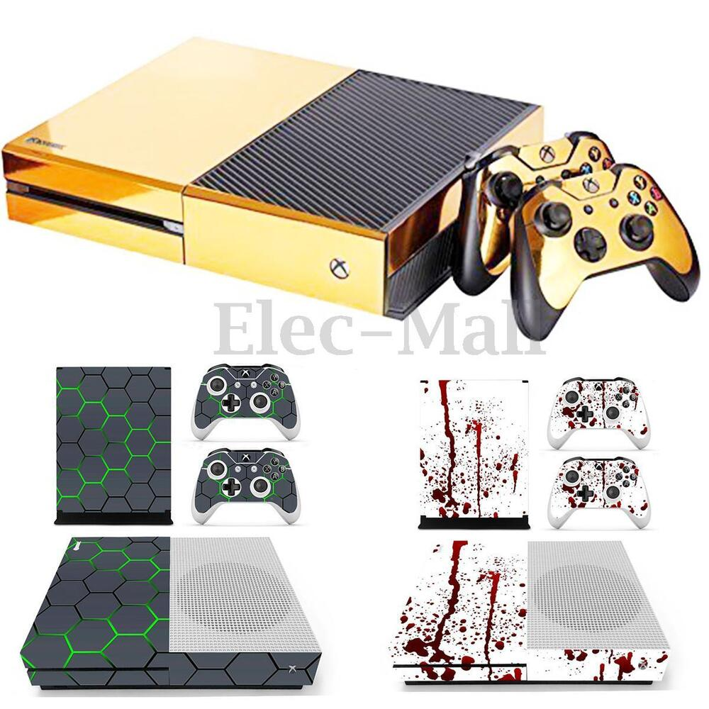 vinyl decal skin stickers cover protector for xbox one s console 2 controllers ebay. Black Bedroom Furniture Sets. Home Design Ideas
