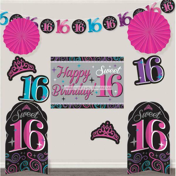 Sweet 16 Room Decorating Kit 16th Birthday Party