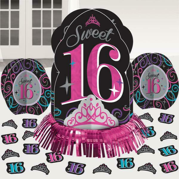 Details About Sweet 16 Table Decorating Kit 16th Birthday Party