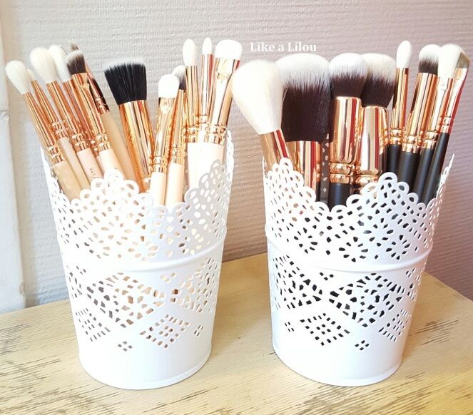 make up brush holder pots candle holder set of 2 free delivery
