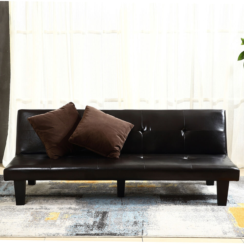 New Futon Sofa Bed Convertible Couch Loveseat Dorm Sleeper