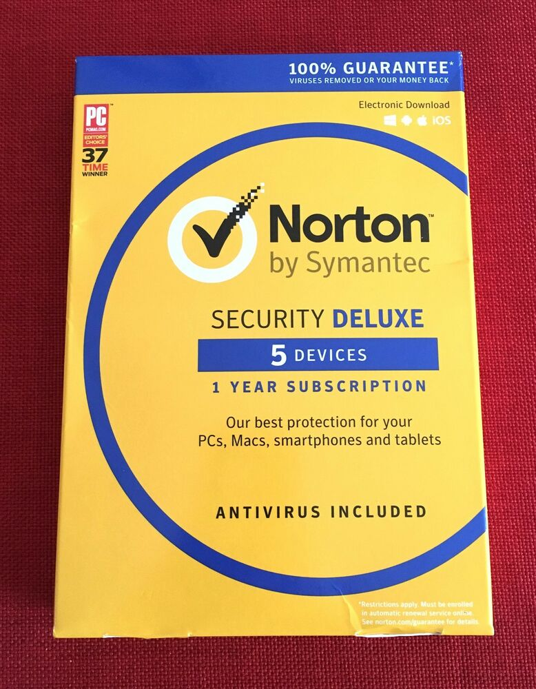 new sealed norton security deluxe multi device 5 pc. Black Bedroom Furniture Sets. Home Design Ideas