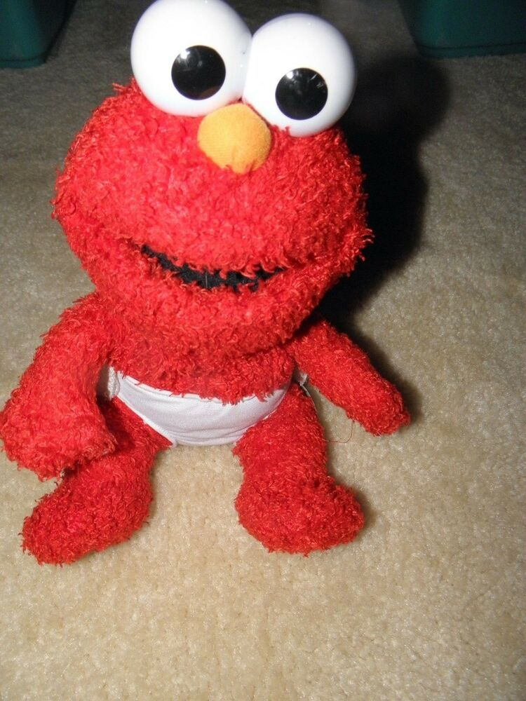 Talking Elmo Toy : Sesame street tickle baby elmo quot plush stuffed with