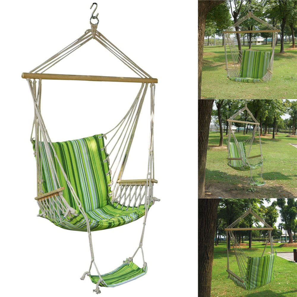 Garden Patio Porch Hammock Hanging Rope Swing Chair Seat ...