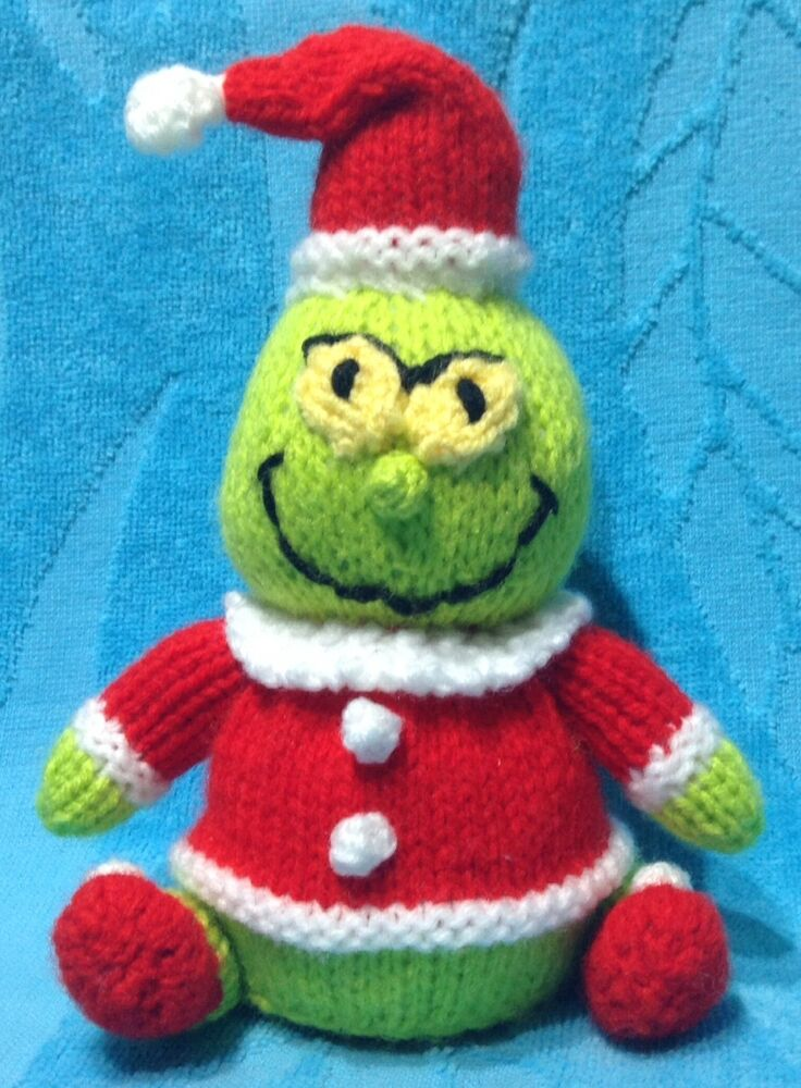 KNITTING PATTERN - Christmas Grinch inspired chocolate orange cover / 17 cms ...