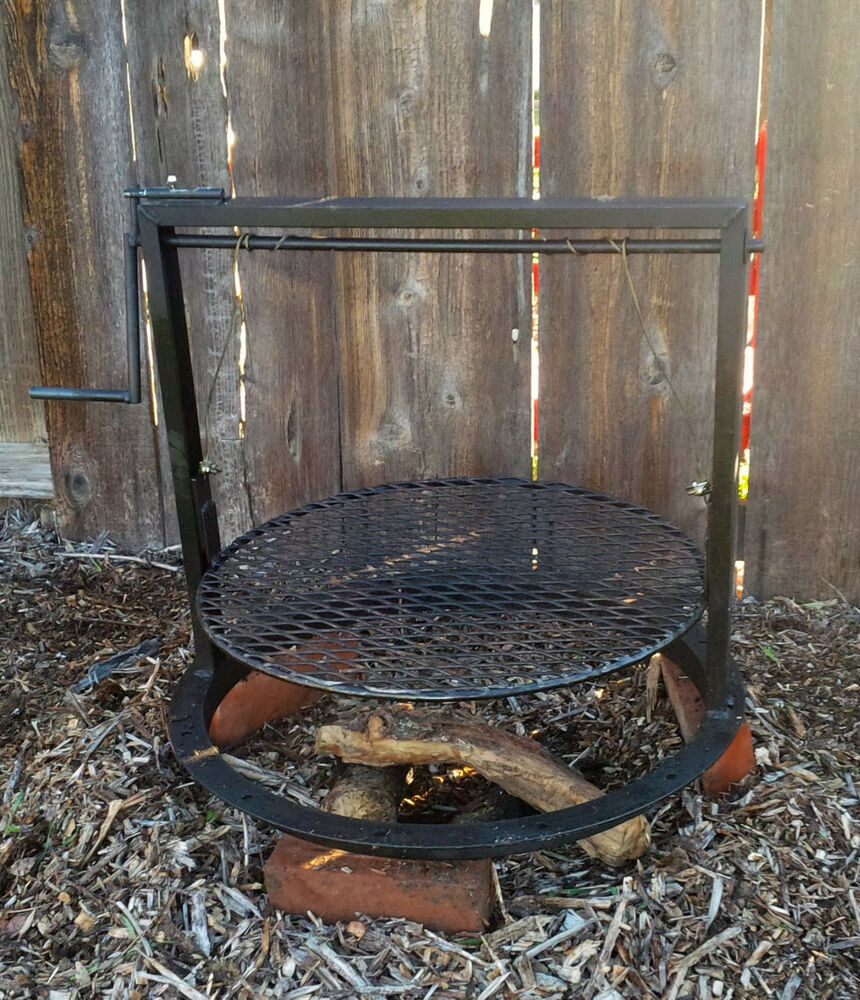 Campfire Pit Bbq Grill With Adjustable Grate Santa Maria