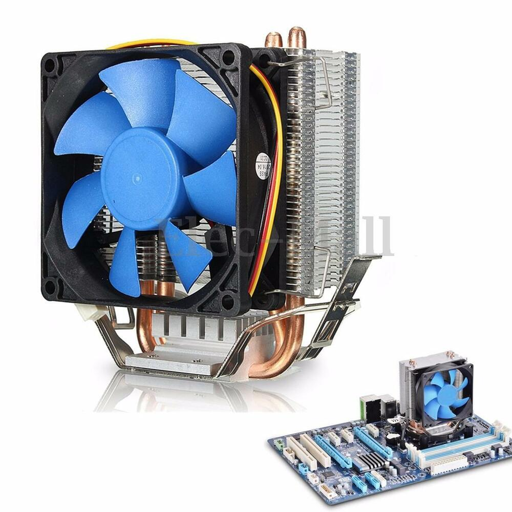 Processor Cooling Fan : Aluminum cpu cooler fan heatsink for intel lga