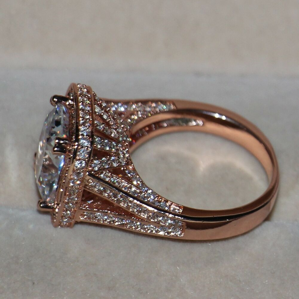 rose gold and silver wedding rings sz5 11 luxury jewelry 10ct 925 silver aaa cz gold 7114