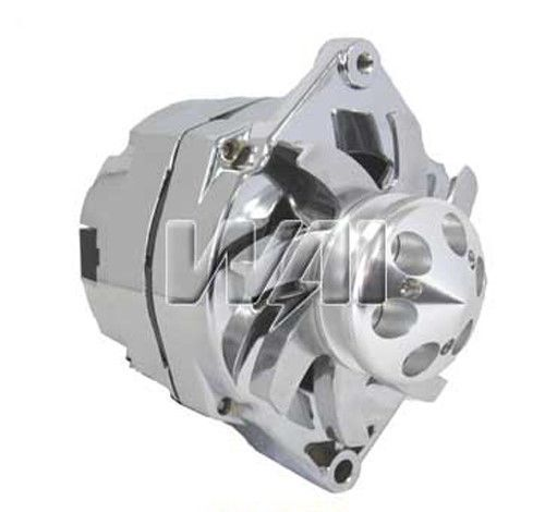 100% new chrome alternator for chevy gm hot rod billet 3 ... 1988 ford 3 wire alternator wiring diagram