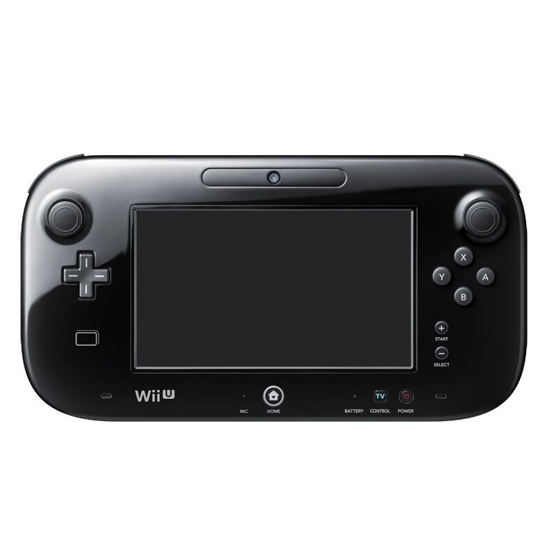 new nintendo wii u black replacement wireless gamepad oem official controller 634420286463 ebay. Black Bedroom Furniture Sets. Home Design Ideas