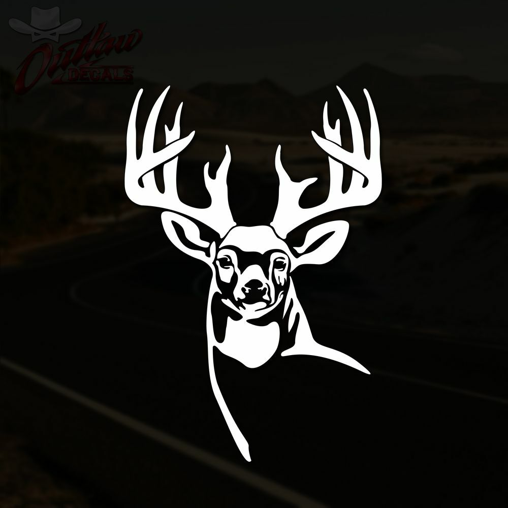 Deer hunting decals ebay whitetail deer decal buck hunting truck window vinyl sticker pick size color biocorpaavc