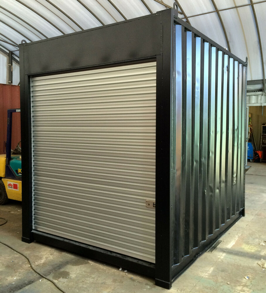 10ft 3m long approx 96 High shipping container storage shed with