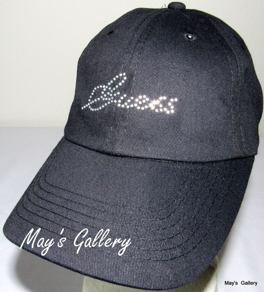 Details about GUESS Jeans Baseball Hat Hats Rhinestones logo NWT One size  Cap Adjustable Black e2b50857a447
