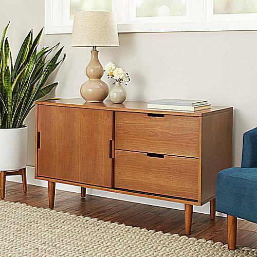 Dining Room Consoles: Mid Century Modern Credenza Dining Room Sideboard Console