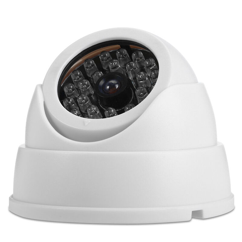 Camera White Light: White Dummy FAKE Surveillance Security Part Dome Camera W