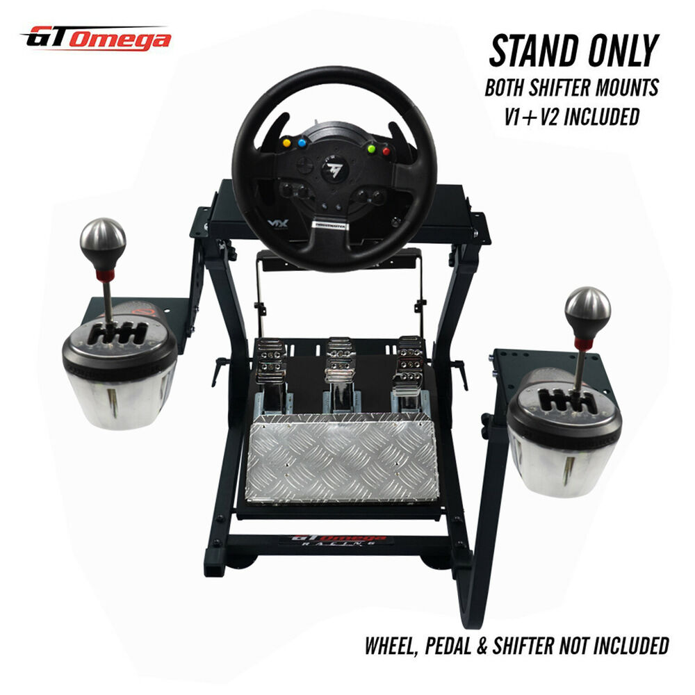 gt omega steering wheel stand pro for thrustmaster tx racing wheel th8a shifter 616641770174 ebay. Black Bedroom Furniture Sets. Home Design Ideas