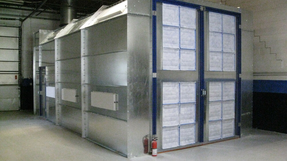 Automotive Paint Spray Booth Cross Draft 14 Wide X 12 Tall
