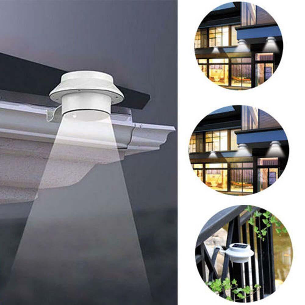 Solar Lights Roof: 2 Pack: Solar Power Automatic LED Mounted Gutter Night