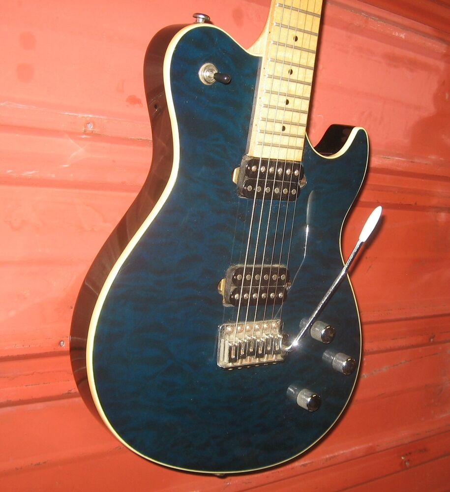 samick greg bennett fastback electric guitar fb1 transparent blue ebay. Black Bedroom Furniture Sets. Home Design Ideas