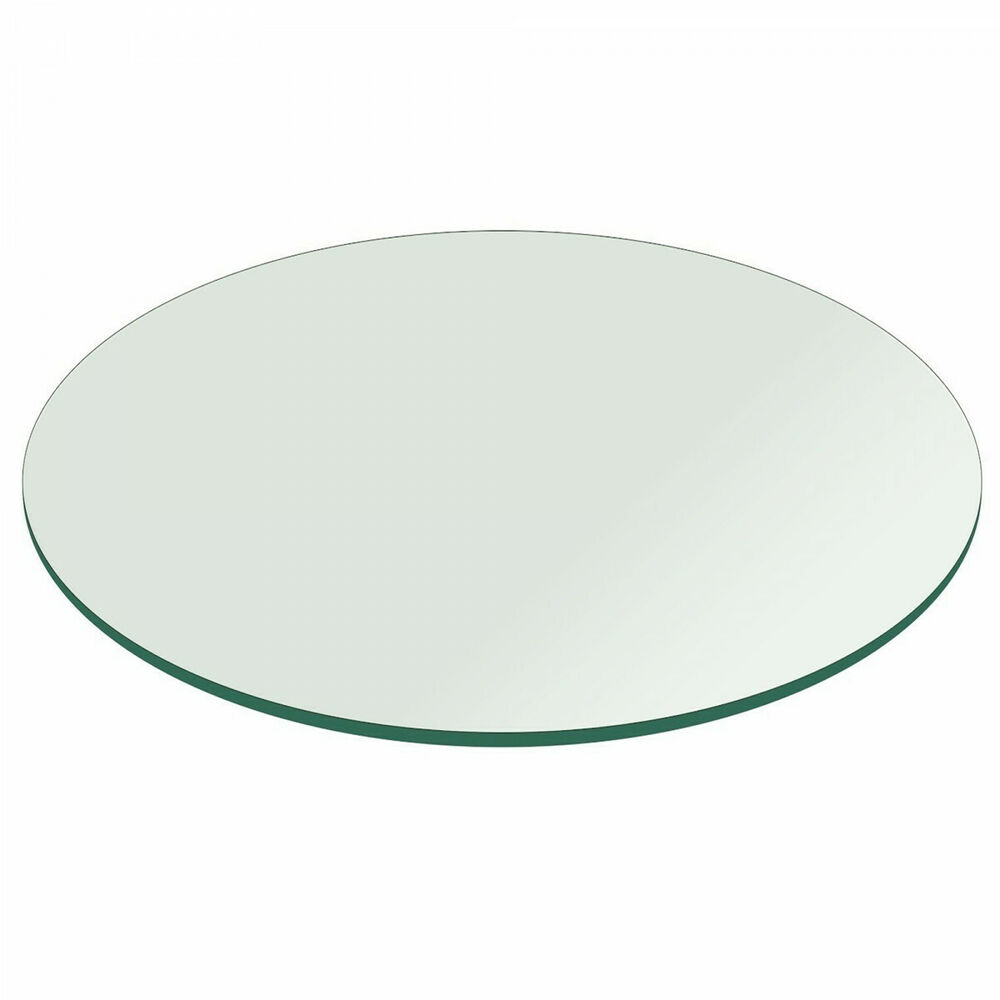 Great Round Glass Table Top: 45 Inch 1/4 Inch Thick Flat Polished Tempered | EBay