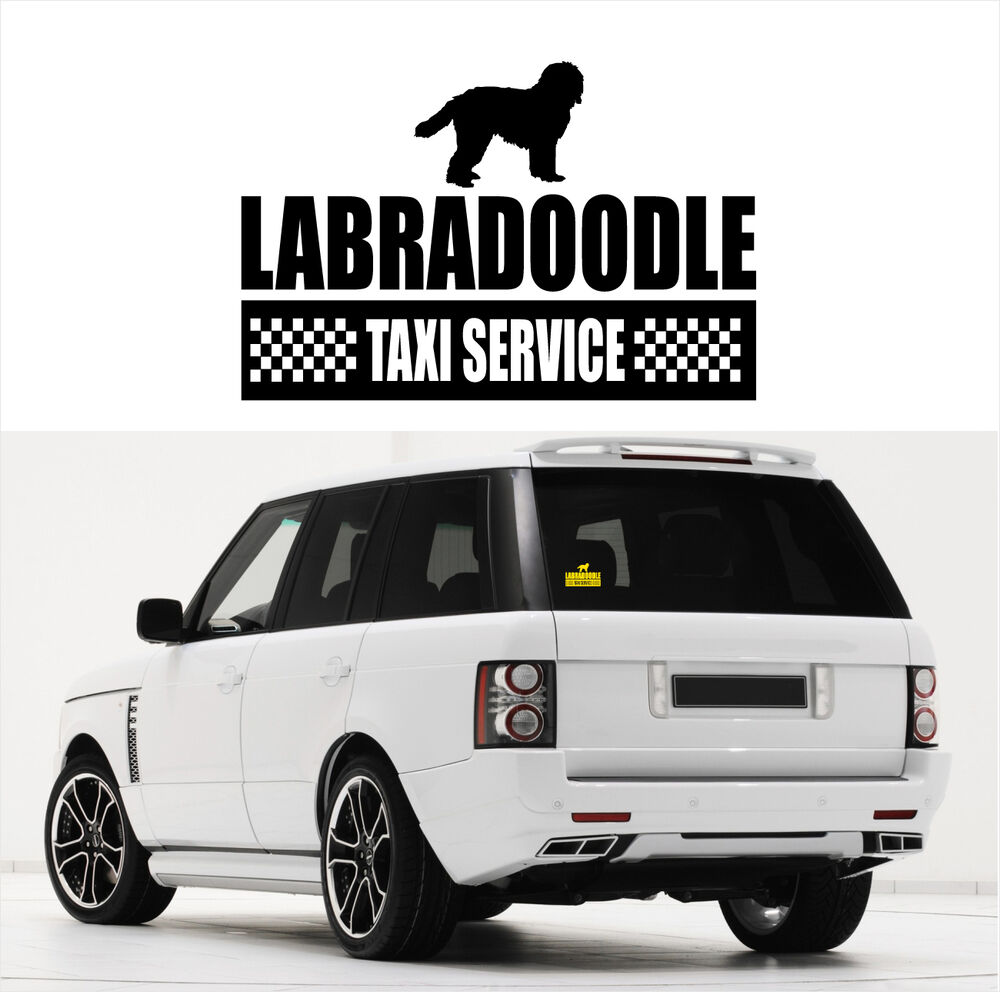 ayc auto aufkleber labradoodle taxi service hundeaufkleber hund fun siviwonder ebay. Black Bedroom Furniture Sets. Home Design Ideas