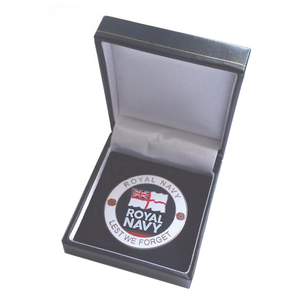 img-Royal Navy RN Lest We Forget Service Personel Remembrance Coin - Boxed