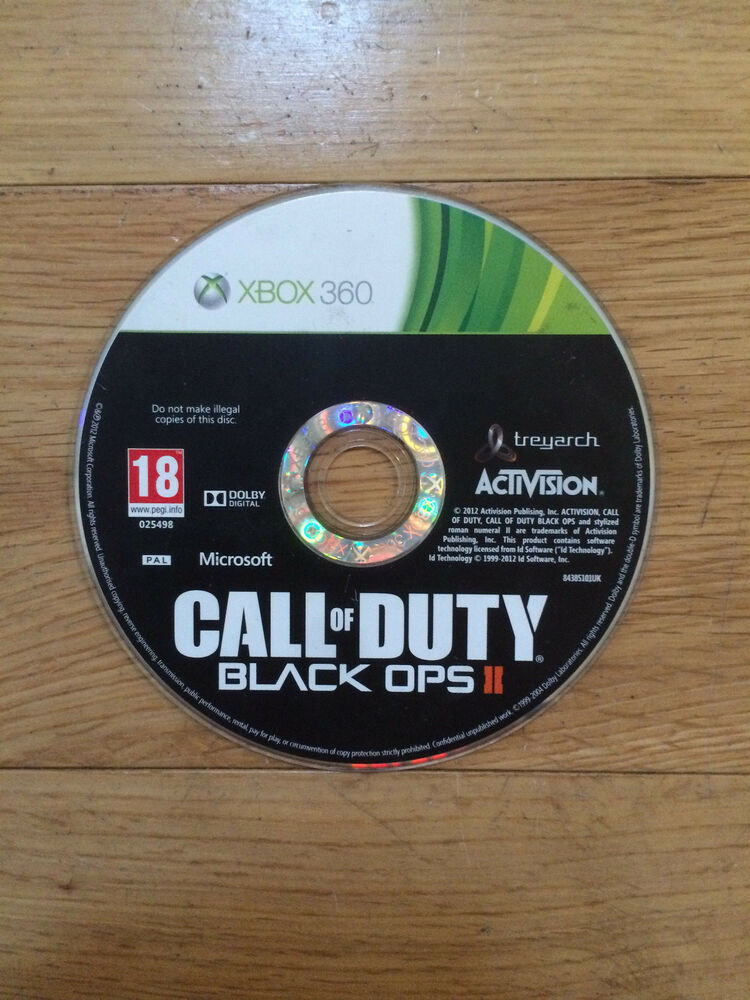 call of duty black ops ii 2 for xbox 360 disc only