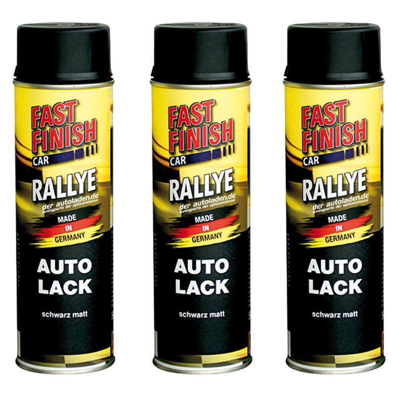 autolack rallye lack spraydose 500ml fast finish schwarz. Black Bedroom Furniture Sets. Home Design Ideas