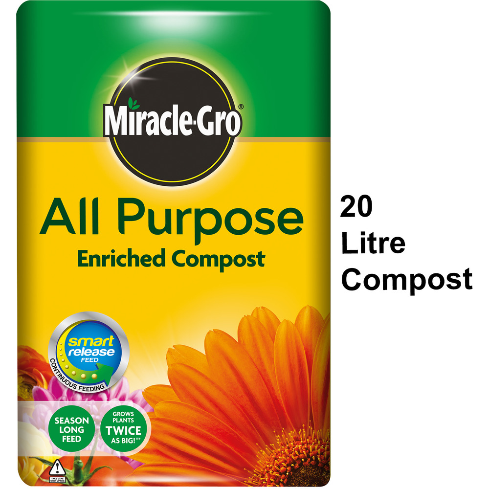 Miracle gro all purpose enriched compost miracle gro 20l - Miracle gro all purpose garden soil ...