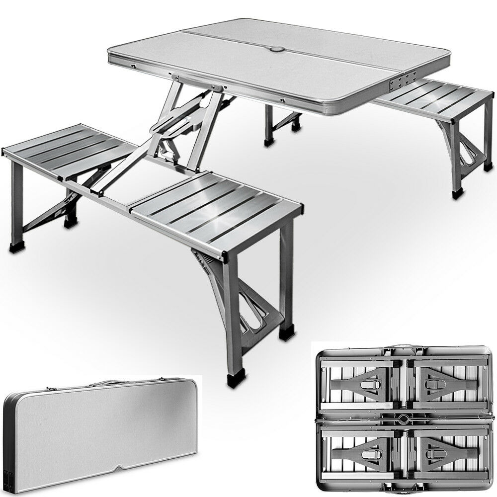 Folding Camping Table And Chairs Set Picnic Dining