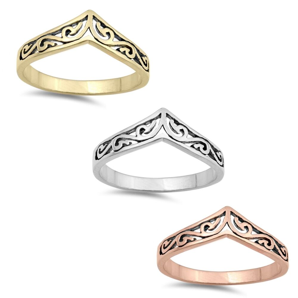Mens Or Womens Celtic Filigree Ethnic Ring in 925 Solid ...