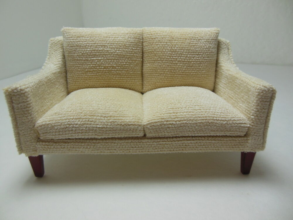 Dollhouse miniatures furniture 1 12 3225 1mhve mahogany for 0 1 couch to fridge