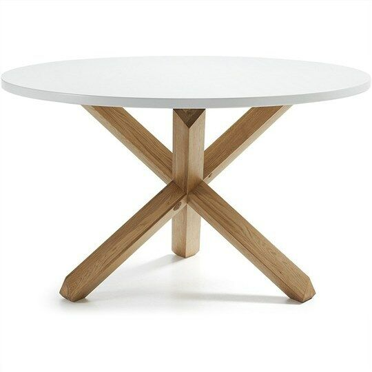 finn round dining table white natural ebay