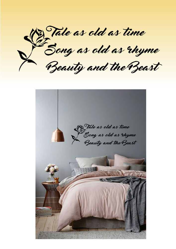 Great ... Beauty And The Beast Disney Inspired Wall Art Sticker Decal Home Decor  Bedroom Ebay ... Part 12